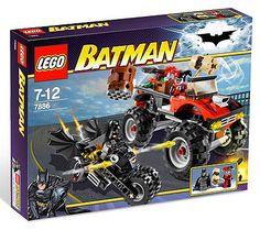 LEGO Batman Set #7886 Batcycle: Harley Quinns Hammer Truck