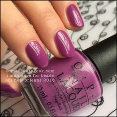 My favorite color! I get compliments everytime I wear it. OPI I Manicure For Beads – OPI New Orleans Collection