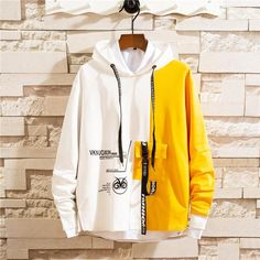 Men Colorblocked hooded sweater - Alexis is Word! Hooded Sweater, Men Sweater, Sweater Fashion, Black Outfit Men, Moda Outfits, Stylish Hoodies, Hoodie Outfit, Man Outfit, Mode Streetwear