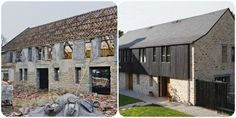 Renovation d'une vieille laiterie #renovation #maison #travaux  http://www.maison-deco.com/conseils-pratiques/renovation-travaux/Une-grange-transformee-en-maison-contemporaine