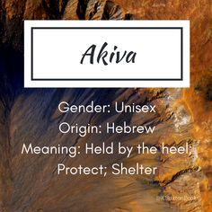 Akiva - boy and girl's name