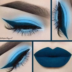 Lime Crime - Monochromatic blues using 'Filter' from #Venus2 +...