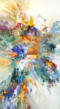 """abstract upright painting, modern large artwork x """", vibrant, dynamic and contemporary one- off original by Peter Nottrott, mostly spatula technique Abstract Expressionism Art, Abstract Art, Large Artwork, Summer Breeze, Acrylic Painting Canvas, 5 D, Saatchi Art, Contemporary Art, Original Paintings"""
