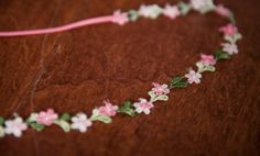 Pink Floral headband flower crown photo prop bohemian by QuinnRose, $7.00