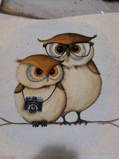 Owl couple, so cute! Love the glasses