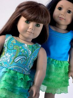 American Girl Doll Clothes  Reversible Top and by ampmcreationstoo,