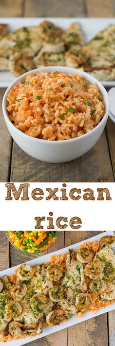 Mexican rice - A quick, easy and delicious side dish that easily be turned into leftover lunches by adding vegetables and chicken or shrimp Mexican Dishes, Mexican Food Recipes, New Recipes, Cooking Recipes, Favorite Recipes, Healthy Recipes, Ethnic Recipes, Quick Recipes, Amazing Recipes