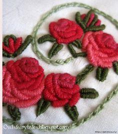 Вышивка рококо по вязаному полотну - основные приемы. Обсуждение на LiveInternet - Российский Сервис Онлайн-Дневников