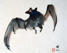 I adore Chinese bat paintings.