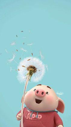 Pig Wallpaper, Disney Wallpaper, Wallpaper Backgrounds, Iphone Wallpaper, This Little Piggy, Little Pigs, Cute Piglets, 3d Art, Pig Illustration