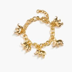 J.Crew for David Sheldrick Wildlife Trust elephant charm bracelet: Thanks @esilbermann #Bracelet #Elephant