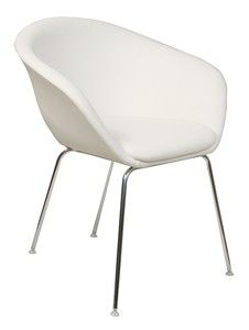 Arper Duna chair in white eco leather House of Honey Color Bar|White