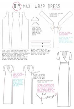 DIY wrap dress