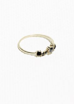 & Other Stories Stone Strass Ring in Grey
