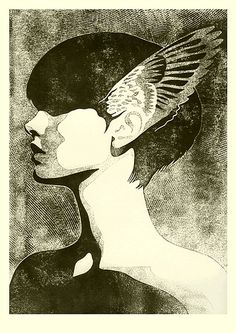 """HYPNOS Engraving. Part of the """"Family of Sleep"""" series by Iker Spozio"""