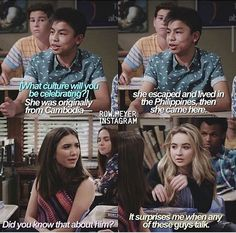 "#GirlMeetsWorld ""Girl Meets the Great Lady of New York"" (this joke was funny because extras on a show usually don't talk)"