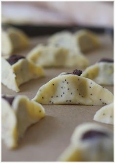 Hamentashen with Poppy Seed and Chocolate Filling