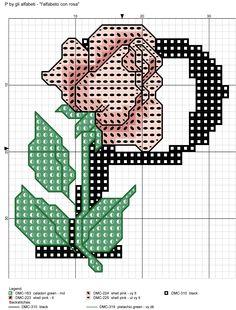 alfabeto con rosa: P