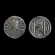 Silver penny of Alfred the Great. Anglo-Saxon, AD 871-99. Kingdom of Wessex, southern England.