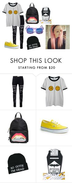 """""""iuytf"""" by annie-hall-barton ❤ liked on Polyvore featuring Chicnova Fashion, RED Valentino, Vans and Kill Star"""