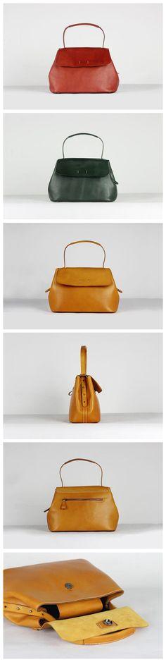 Handmade Genuine Leather Tote Bag Women Designer Handbag WF40