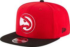 100% authentic 2e2ba df443 New Era Men s Atlanta Hawks 9Fifty Adjustable Snapback Hat, Team Flat Brim  Hat, Atlanta