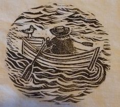 Linocut row boat stamp | Flickr - Photo Sharing!