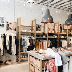 The scene at Lou & Grey Pasadena - such a pretty display of their items