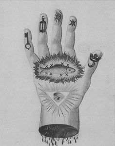 Alchemical Hand With Symbols Of Transmutation Miniature From Alchimia Hermetis Century National Szechenyi Library Budapest