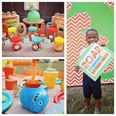 Dinosaur birthday party via Kara's Party Ideas!