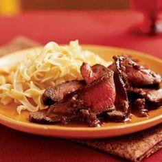 15 minutes - Sirloin steak with dijon-port sauce