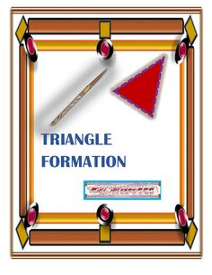 Triangle Formation from SisterBBB on TeachersNotebook.com -  (11 pages)  - Features of a Triangl