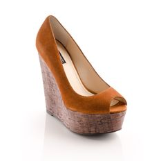 Cork wedge and suede - love! Also comes in a great yellow and tomato red...Courtney - ShoeMint