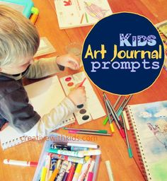 Kid Art Journal Prompts - good lead up to the journaling with getting everyone laughing.