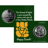 This Diwali gift your near n dear ones with Personalized Silver Coins!!