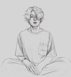 Discover recipes, home ideas, style inspiration and other ideas to try. Jungkook Fanart, Kpop Fanart, Bts Jungkook, Kpop Drawings, Art Drawings Sketches Simple, Pencil Art Drawings, Bts Art, Arte Sketchbook, Bts Chibi