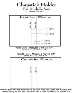 chapstick holder pattern