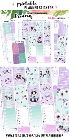 Happy Planner Stickers. Printable planner stickers. Weekly kit for The Happy Planner Classic. Includes free Silhouette cut files. Fall planner stickers for Mambi Planner. Printable sticker kit for your Happy Planner. PIN10 for 10% off.