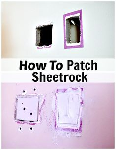 How to patch holes in sheetrock. #diy