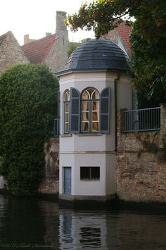 Folly, along the border of a canal... Bruges, Belgium