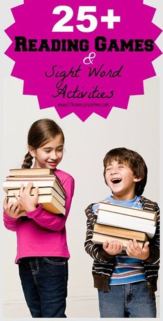 25+ Reading games & Sight Word Actiivites