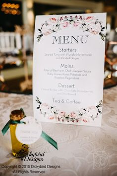 Wedding Menu Pickled Ginger, Seared Tuna, Chocolate Strawberries, Creme Brulee, Wedding Menu, Roasted Vegetables, Wedding Stationery, Place Card Holders, Stuffed Peppers