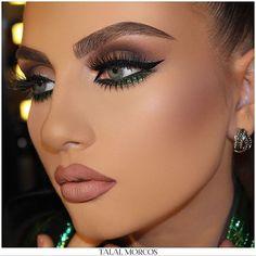 Green glittery 💚 #mua #talalmorcos #2017