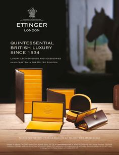 "Ettinger Bridle Hide ""Stables"" Advertisement, designed by DNA in 2010"