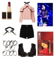 """Yet Another Inspired Blackpink Jisoo Outfit"" by aurejuanbaston ❤ liked on Polyvore featuring Alexis, River Island and Tom Ford"