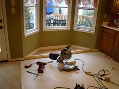 More assistance in building bay window seat....
