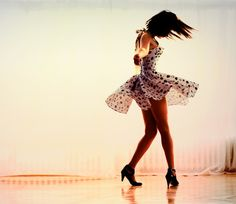 dance, dress, hair