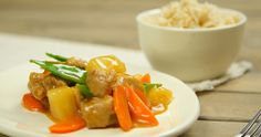 Tastier than take-out! Sweet & Sour Pork you can make at home. Brown rice and lots of veggies add a healthier spin to this favorite: