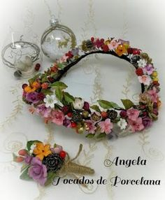 Tocados de novia. Joyería Cerámica. Flores de porcelana fina (cérámica ) y masa flexible. Floral Headpiece, Headpiece Wedding, Bridal Headpieces, Bridal Crown, Bridal Tiara, Wedding Hair Pins, Wedding Bride, Bride Headband, Ceramic Flowers