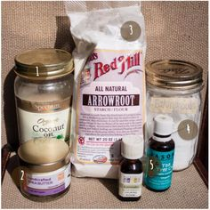 DIY: Natural Deodorant. This is pretty much exactly what my recipe is, except occasional different essential oil choices. Also, I've never been able to get it to stay in an old deodorant stick without it running all over the place while still a liquid!